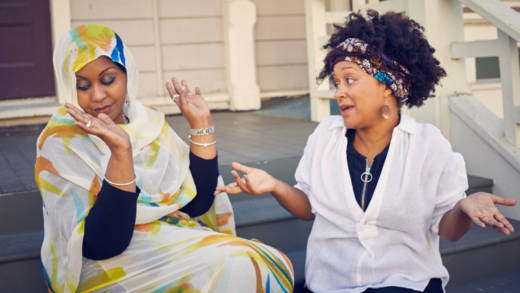 """Hana Baba and Leila Day host """"The Stoop"""" podcast."""