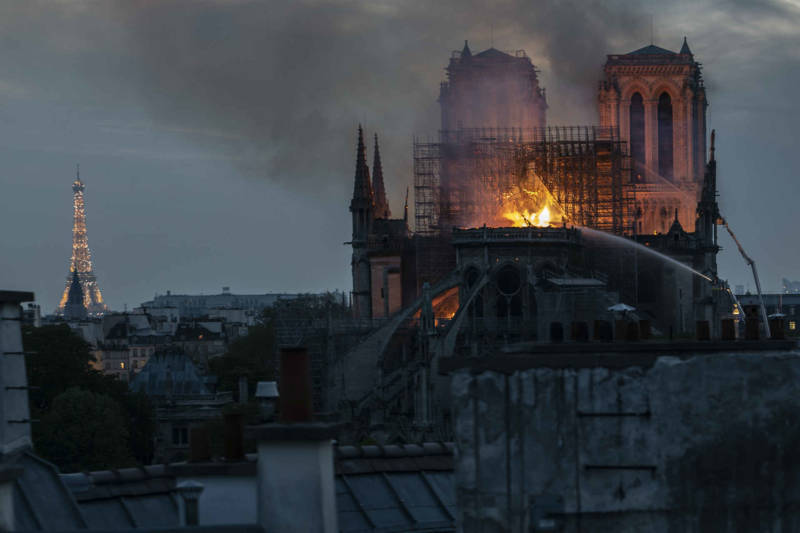 Massive Fire Damages Much of Notre-Dame Cathedral in Paris