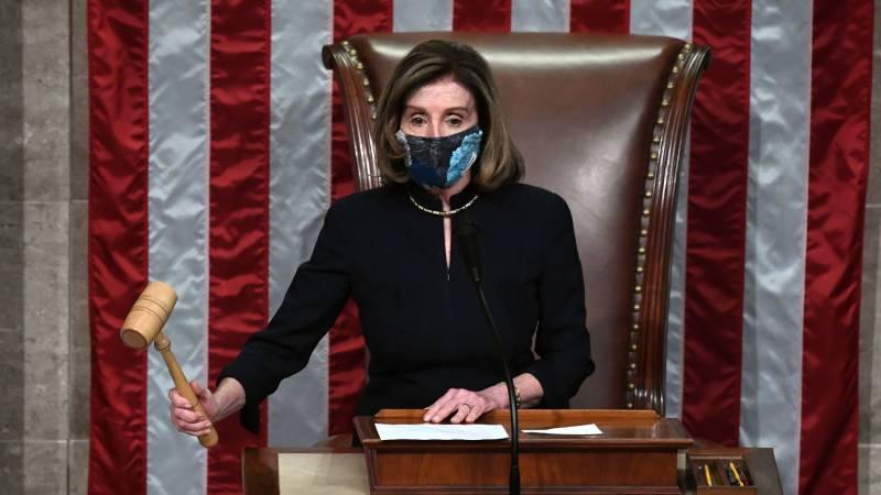 Nancy Pelosi bangs gavel