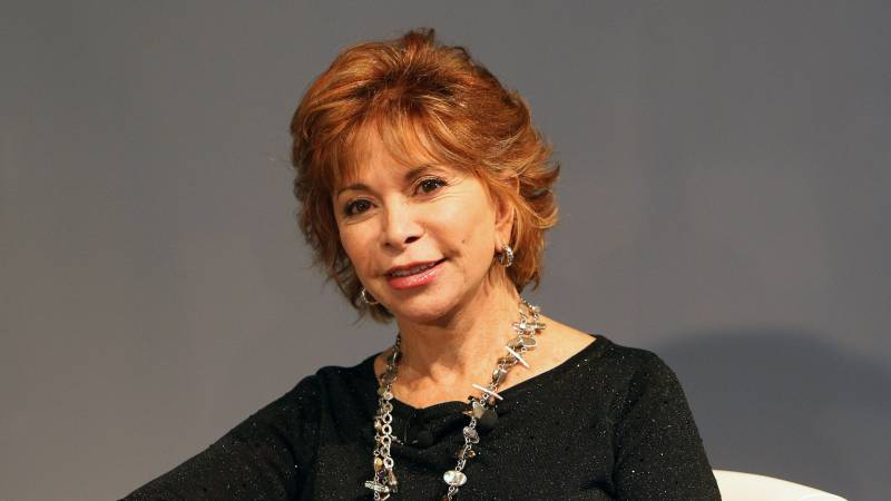 Isabel Allende attending book fair in Germany.