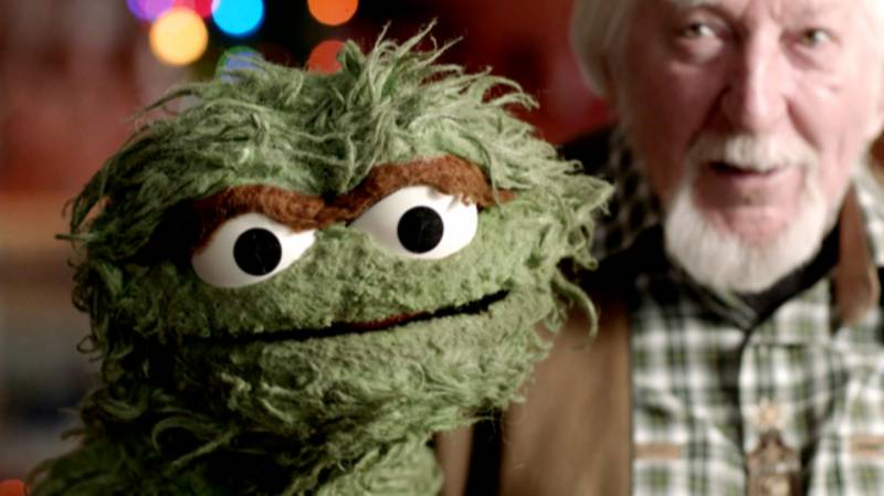 Oscar The Grouch and Carroll Spinney