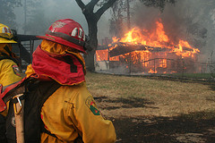 Firefighters at the Martin Fire in the Santa Cruz mountains near Bonny Doon, CA in June, 2008. Photos by Tim Walton.
