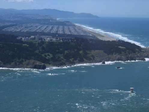 One wave power project was proposed for waters off San Francisco's Ocean Beach (upper right).