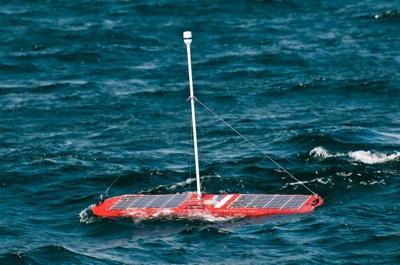 """Red Flash"" at sea. Photo: Liquid Robotics"