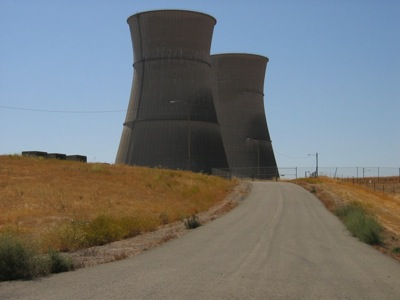 Is the road back to nuclear a dead end? Cooling towers at the decommissioned Rancho Seco nuclear power plant.