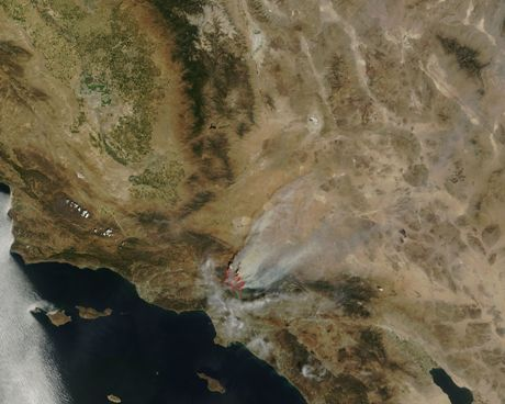 Smoke fans out from L.A. fires this week. Image: NASA