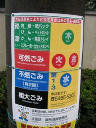 Burn after reading? Recycling instructions in Japan.