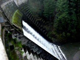 Spillway at Alpine Lake on Mt. Tamalpais. File photo: Marin Municipal Water District