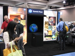 "NASA's ""Dynamic Planet"" exhibit at the San Diego Convention Center. Photo: Craig Miller"