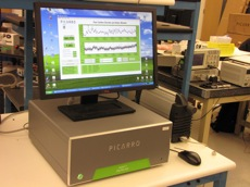The greenhouse gas analyzers are about the size of a desktop computer. Photo: Craig Miller