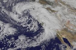 Storms over California. Image: NASA