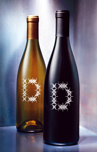 C. Donatiello Winery chardonnay and pinot noir bottles