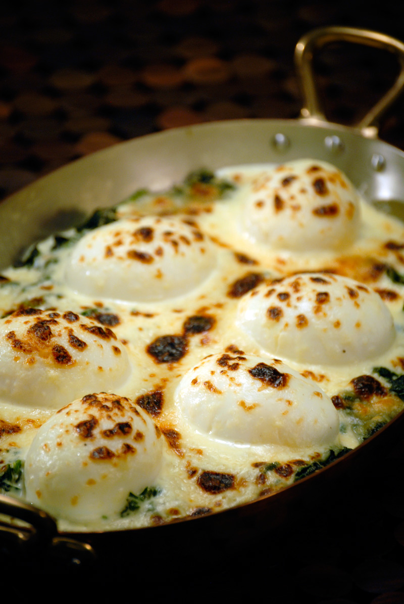 egg recipes mollet eggs florentine recipe pepin dinner breakfast jacques french soft cooking food kqed cooked bread below essential water