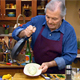 Jacques Pepin cooking in Episode 118 of Essential Pepin