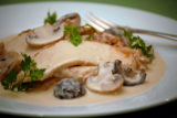 Roast Capon with Armagnac-Mushroom Sauce