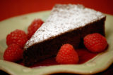 Chocolate Soufflè Cake With Raspberry Sauce