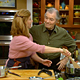 Jacques Pepin and his daughter, Claudine cook together