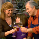 Jacques Pepin with his daughter and granddaughter