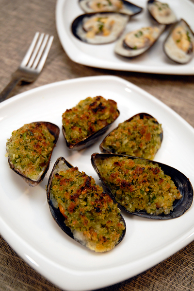 Mussels Poulette and Gratinee
