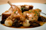 Sautèed Rabbit with Morels and Pearl Onions