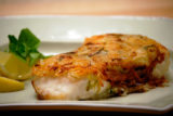 Sea Bass in Shredded Potato Skin