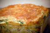 Spinach, Ham, and Parmesan Soufflé