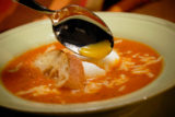 Tomato Chowder With Mollet Eggs