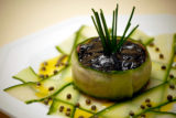 Tuna Tartare on Marinated Cucumbers