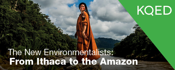The New Environmentalist 2014 - Main Banner Ruth Buendia standing in the area that would have been damned by the Pakitzapango, Ene River Valley, Peru Credit: Goldman Environmental Prize
