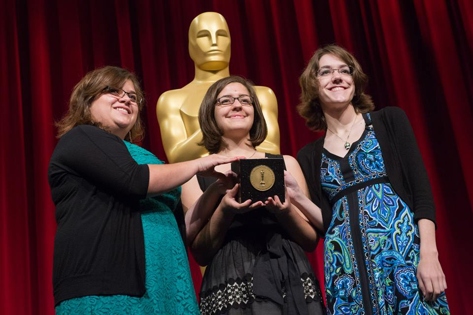 (L to R) Ashley Graham, Lindsey St. Pierre, and Kate Reynolds won a Student Academy Award for 'Dia de los Muertos'
