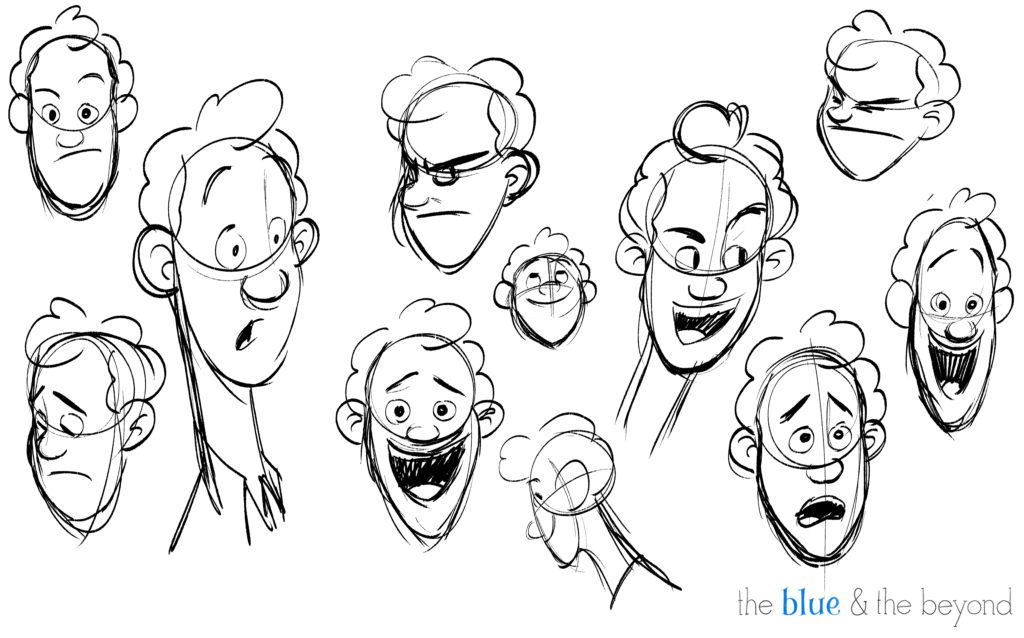 Character Design iterations of Charlie by Ryan Eways.
