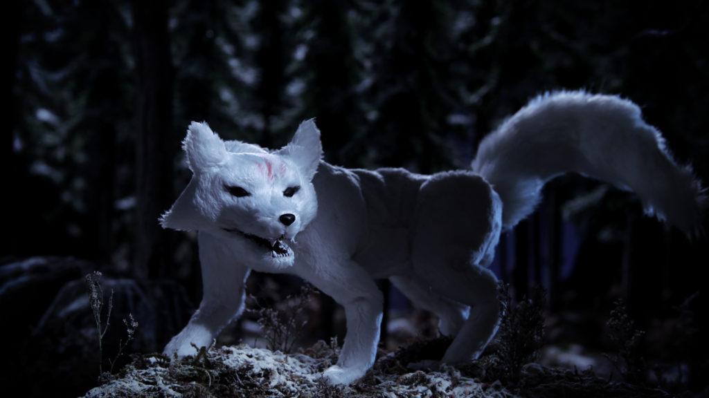 Mama Fox snarls in the night.