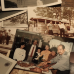 Photos of Gil and his family