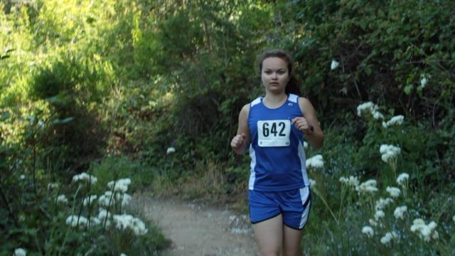 Lea (Kira Lanoue) races in Run, Run Away