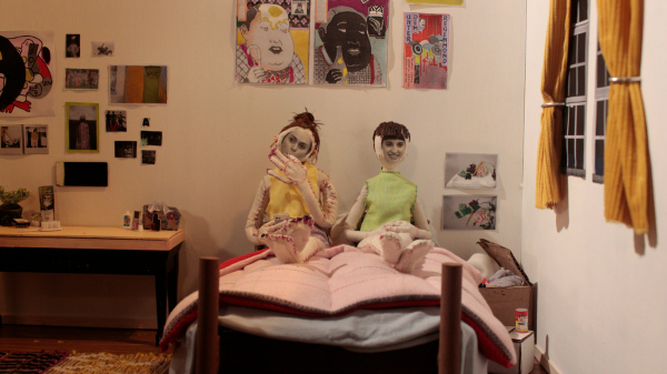 The filmmakers as stop-motion puppets